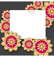 Hand drawn background doodles vector image vector image