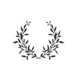 hand drawn floral wreath on white background vector image vector image