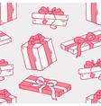 Hand drawn gift box seamless pattern vector image vector image