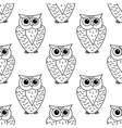 Horned owl seamless background pattern vector image vector image
