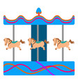 isolated horse carousel vector image vector image