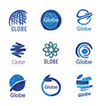 logos globe global vector image
