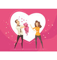 Love Gifts For Couples Valentine Cartoon Card vector image vector image