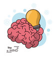 mind brain bulb idea inspiration energy design vector image
