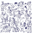 musicians - cartoons set vector image vector image