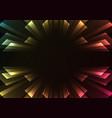 overlap stripe rush in dark background vector image