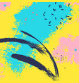 paint blue yellow brush stroke fashion neon blue vector image vector image