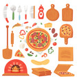 pizza italian food with cheese and tomato vector image