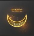ramadan kareem glitter background vector image