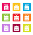 sale best offer discount boxes vector image