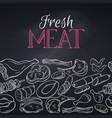 seamless border gastronomic meat vector image vector image