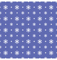 seamless christmas pattern with blue snowflakes vector image vector image