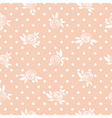 Seamless floral pattern roses on the polka dot vector image vector image