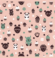 seamless pattern with cakes vector image vector image