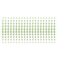 seed sprout shape halftone effect vector image