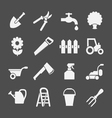 Set icons of garden and farm vector image vector image