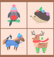 set icons with animals on vector image vector image