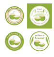 Set of fresh young coconut badge label vector image vector image