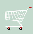 shopping cart flat design vector image