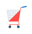 shopping cart or shop supermarket trolley baskets vector image vector image