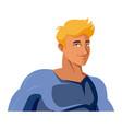 superhero cartoon suit disguise power style vector image