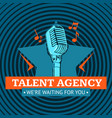 talent agency logo emblem with star and vector image vector image