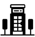 telephone booth solid vector image vector image