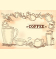 template different types coffee for menu vector image vector image