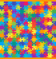 the 196 color outline jigsaw puzzle of banner vector image vector image