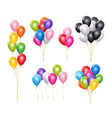 transparent balloons realistic mockup 3d flying vector image