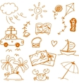 Travel doodle collection art vector image vector image