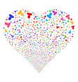 user fireworks heart vector image vector image