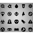 Virus icon set vector image
