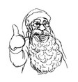 hand cartoon santa claus vector image