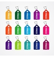 Set of colorful price tags for market commercial vector image