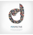 perspective people sign 3d vector image
