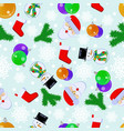1 happy new year seamless pattern with santa vector image vector image