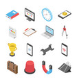 3d worldwide network icons set vector image vector image