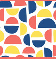 Abstract shapes kids pattern semicircles seamless