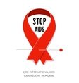 Awareness red ribbon symbol of AIDS vector image
