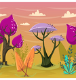 beautiful trees in magical forest vector image vector image