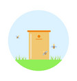 bee hive on green grass vector image