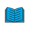 blue book icon on white background book sign vector image vector image