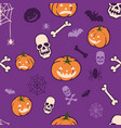 boo pumpkins halloween fun pattern vector image