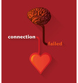 Brain and heart vector image