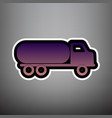 car transports sign violet gradient icon vector image vector image