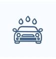 Car wash sketch icon vector image vector image