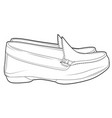casual shoes men without ropes line draw side view vector image vector image