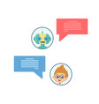 chat bot chating vector image vector image
