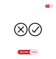 checkmarks icon yes or no sign true or false vector image vector image